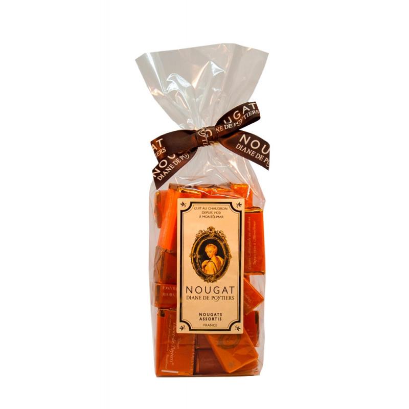 Sachet Nougat enrobé chocolat lait orange