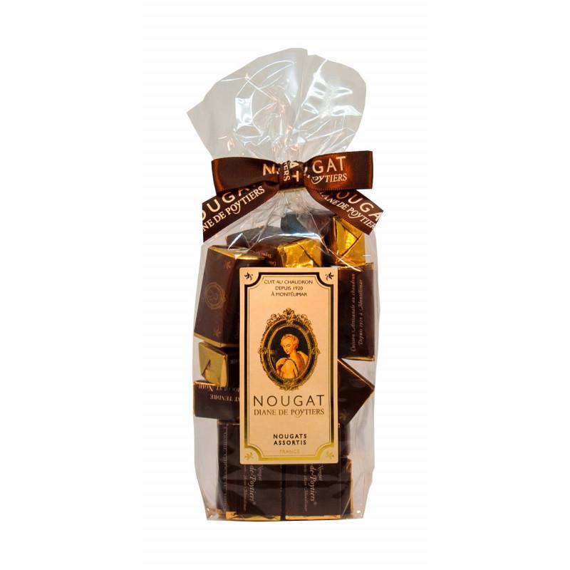 Sachet dominos nougat enrobé chocolat noir