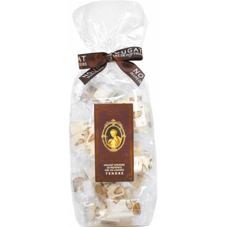 Bag with nougat of Montélimar and honey